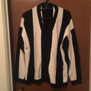 Black & White Striped Zara Cardigan